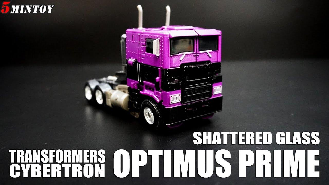 SHATTERED GLASS Optimus Prime Transformers Bumblebee Movie 5 Minutes Toy Review