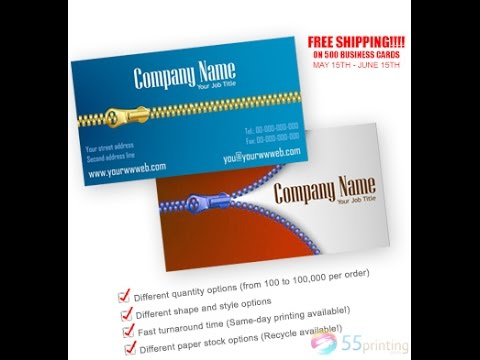 Cheap Business Cards Printing At 55printing Free Design Proof