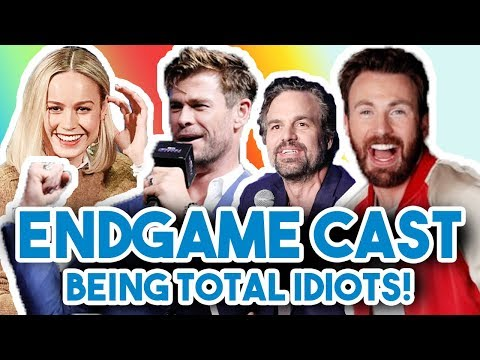 AVENGERS ENDGAME CAST BEING COMPLETE IDIOTS FOR 12 MINS STRAIGHT  FUNNY MOMENTS 2019