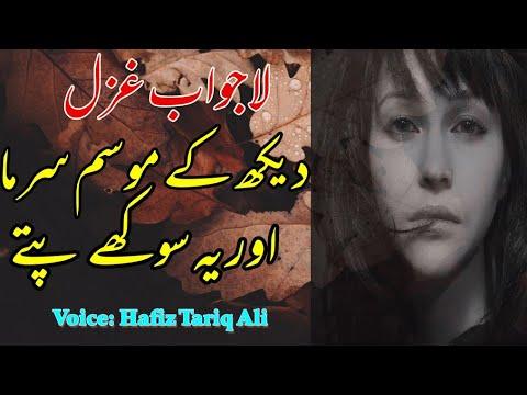 Daikh K Mosam Sarma Winter Best Ghazal By Hafiz Tariq Ali urdu Sad Poetry 