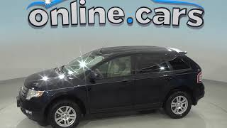 A98769GT Used 2008 Ford Edge SEL AWD SUV Blue Test Drive, Review, For Sale