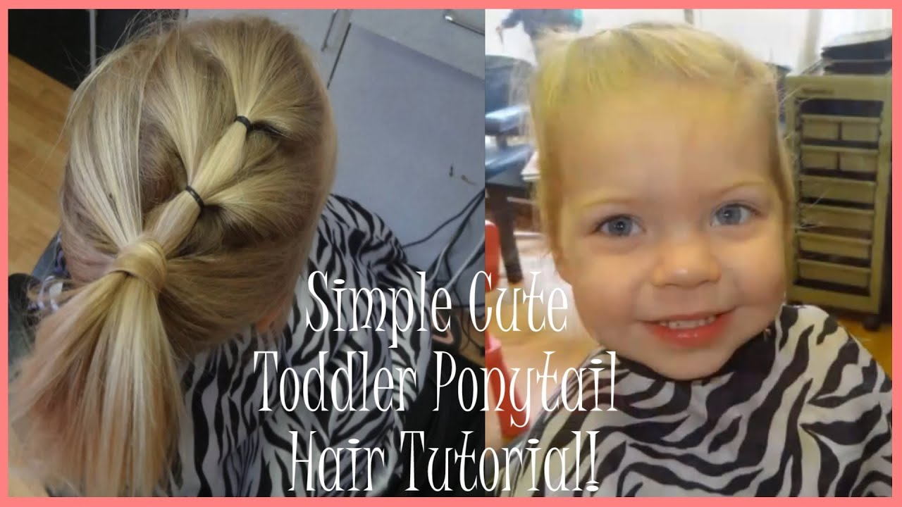 Simple Cute Toddler Ponytail Hair Tutorial