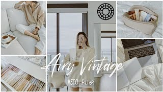 How to Edit Airy Vintage VSCO photo edit | VSCO filter tutorial screenshot 5