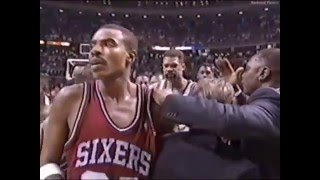 Charles Barkley Brawls With Bill Laimbeer (Full Sequence)
