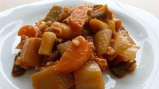 Тушёный лук-порей по-турецки рецепт