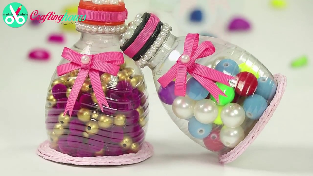 Plastic Bottle Craft, Recycling Ideas How to Make Container with ...