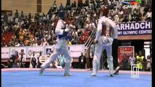 80kg Yousef Karami (IRI) vs (USA) Steven Lopez (world taekwondo Qualification 2011)