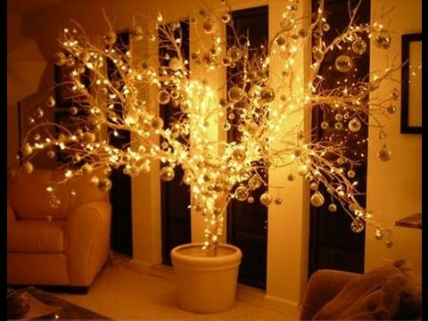 Diy rvore de natal iluminada com galho seco especial - Ramas de arbol para decoracion ...