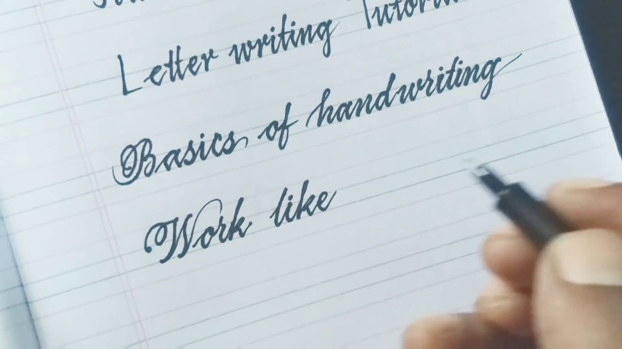 handwriting practice for beginners how to write beautiful handwriting youtube. Black Bedroom Furniture Sets. Home Design Ideas