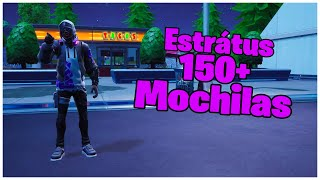 SHOWING SKIN ESTRÁTUS & 150 + BACKPACKS | FORTNITE