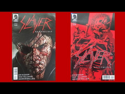 """Unboxing of Dark Horse Comics' """"Slayer - Repentless"""" No.1 & No.1 Special Cover (Eric Powell)"""