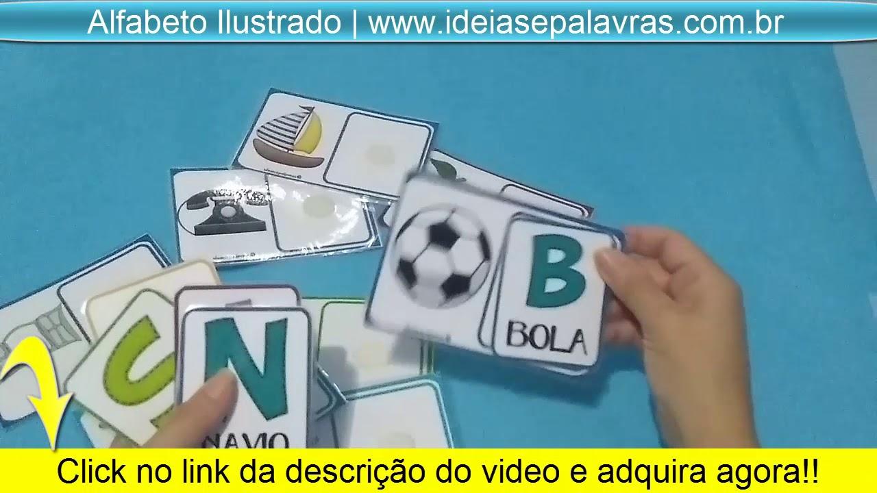 Jogo Alfabeto Ilustrado Atividades De Alfabetizacao E Letramento