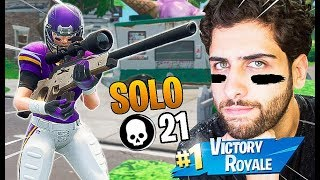 I RECEIVED 8 SKINS BEFORE LAUNCHING AND I MADE A SOLO AGGRESSIVE MODE! -FORTNITE