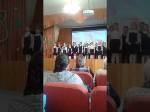 С 8 марта, от первоклассников 5 школы Климовска.