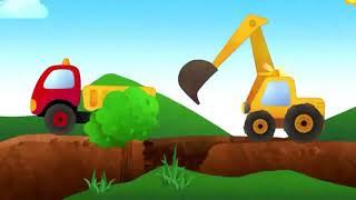 Детский кран и грузовик  Развивающие уроки и мультфильмы для детей
