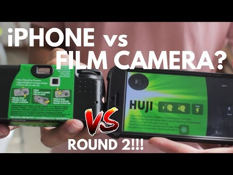 iPhone vs Diposable Camera Round 2!! Fuji Disposable Camera vs Huji App!