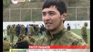 Чеченский СОБР демонстрирует свои возможности