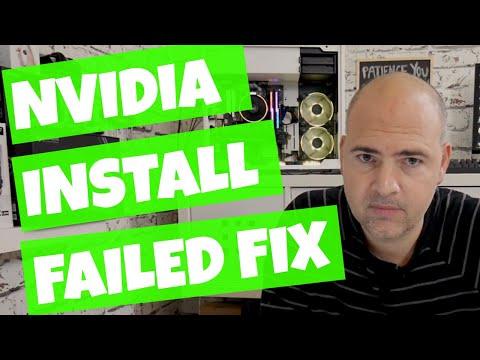 Nvidia Installer Failed Fix WIndows 10 2018