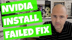 Nvidia Installer Failed Fix WIndows 10 2018