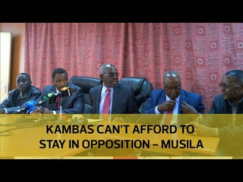 Kambas can;t afford to stay in opposition - Musila