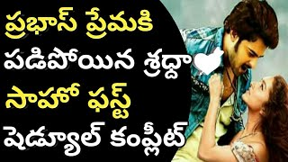 Saaho Movie first schedule completed||Shradha Kapoor excited about her chance to Saaho
