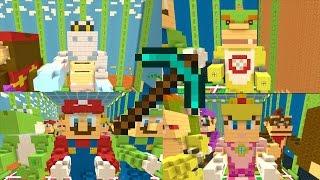 Minecraft Wii U - How to Build Mario Statues [TUTORIAL]