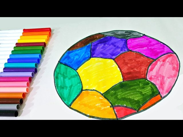 Learn Colors with Coloring Soccer Ball - Colours for Toddlers and Babies with Colouring Football