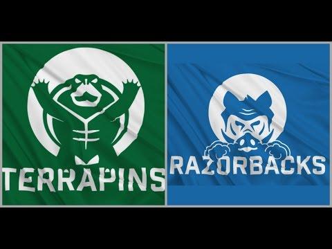 Terrapins Vs Razorbacks  - Week 3 Guernsey Flag American Football 2016