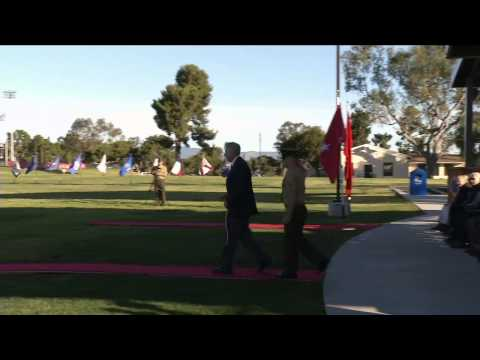 1st Marine Division 72nd Anniversary Battle Streamers Rededication Ceremony