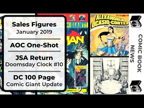 Comic Book News Video: January Sales, AOC Comic, JSA Return