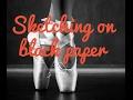 Drawing Ballerina On Black Paper Pentalic Travelers Journal Midnight Sketch