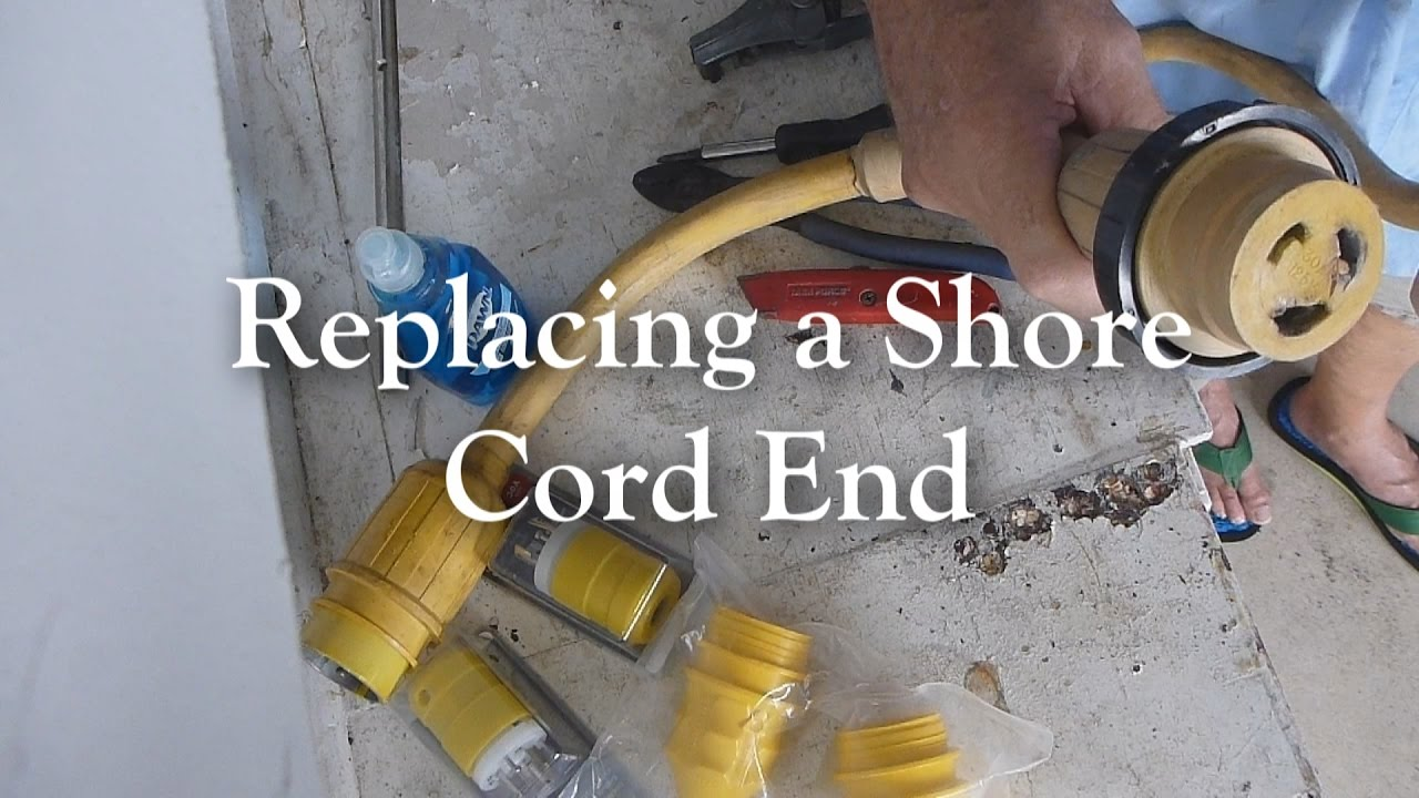 replacing a 30 amp 120 volt shore cord end plug  [ 1280 x 720 Pixel ]