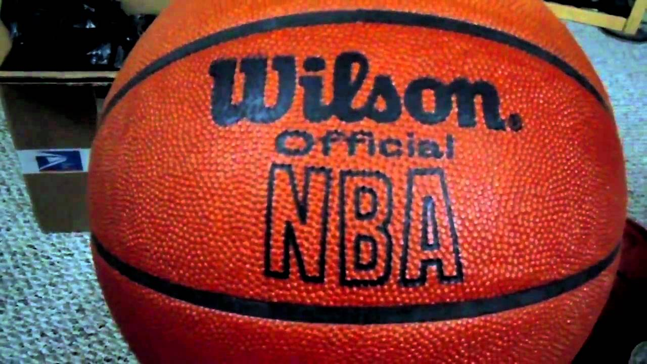 rare vintage Wilson official NBA leather game ball unboxing & review (pre-Spalding & indoors ...