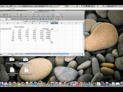 Excel For Mac 2008:  Average And Standard Deviation (line Graph)