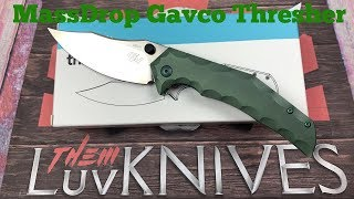 Massdrop Gavko Thresher Knife   There's nothing fishy about this shark !!