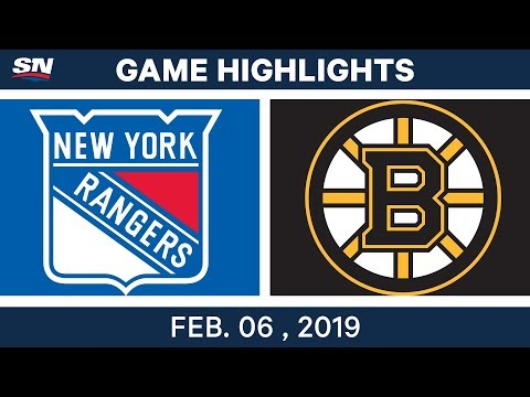 NHL Highlights | Bruins vs. Rangers - Feb. 6, 2019