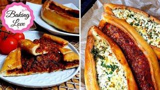 Die besten Pide mit Hackfleisch oder Schafskäse-Füllung I Ramadan I Türkische Pide