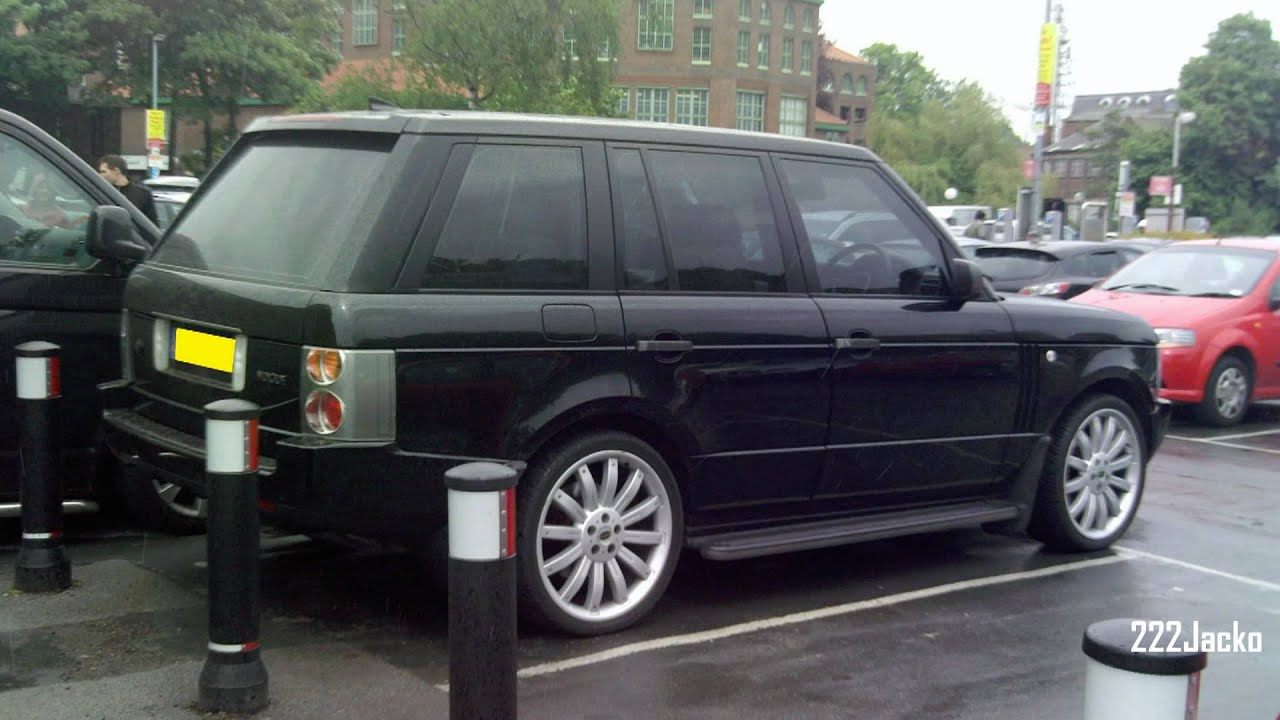 Black Range Rover Vouge With Overfinch Rims Youtube