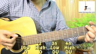 Basic country strumming pattern guitar lesson for beginners(www.tamsguitar.com)