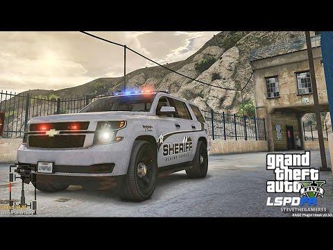 GTA 5 LSPDFR 0.3.1 - EPiSODE 300 - LET'S BE COPS - SHERIFF TAHOE PATROL (GTA 5 PC POLICE MODS)