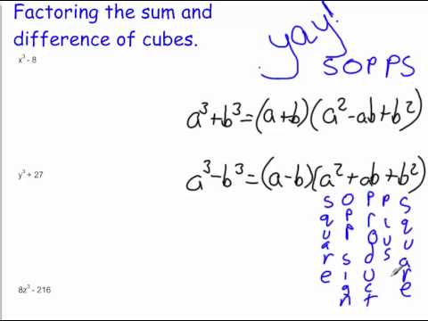 Factoring Using SOPPS and grouping