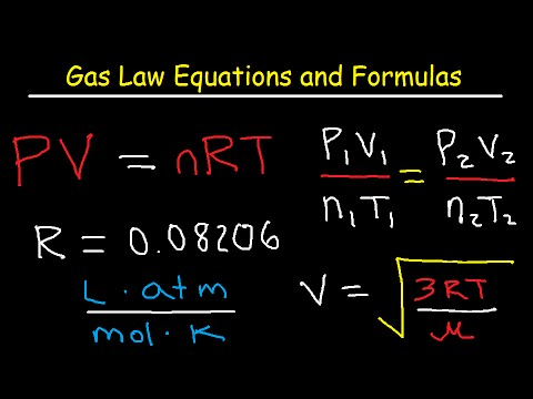 Download Gas Laws - Equations and Formulas