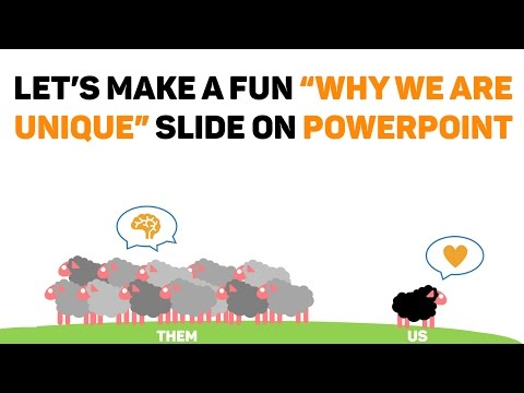 How to Make a Fun 'Why We Are Unique' Slide on Powerpoint (With Sheep!)