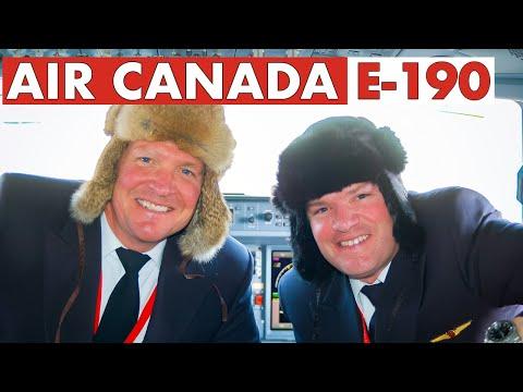 Piloting AIR CANADA E-190   Special Approach Into Ottawa
