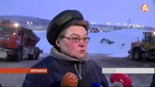 В сильные морозы внимание к дорогам Мурманска не ослабевает