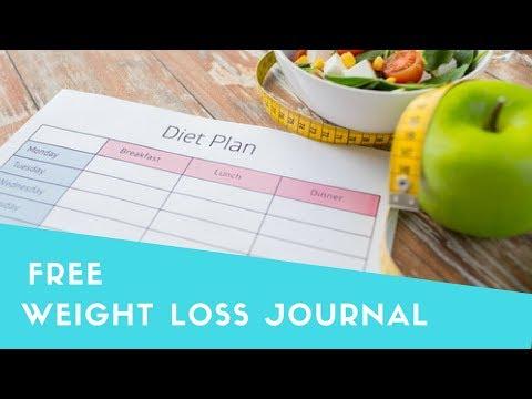 weight loss journals templates