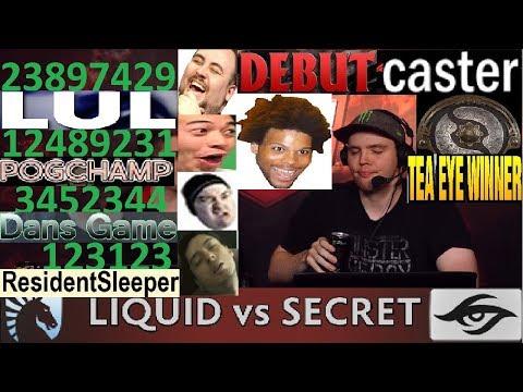 Admiralbulldog Casts Secret vs liquid Twitch Chat Semi Finals Game 1 Dream League Season 8