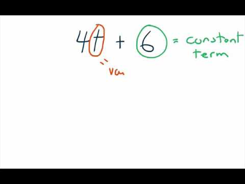 Math 7 1 3 Identifying Numerical Coefficients Variables And Constant Terms Youtube