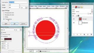 semi circular text with Gimp