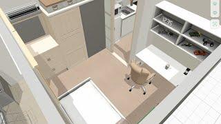 플래너5D로 아산배방 행복주택 16형 꾸미기 - 수납가…